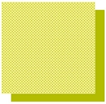 Best Creations-Patterned Glitter Cardstock-Lime Dot