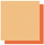 Best Creations-Patterned Glitter Cardstock-Tangerine Dot