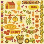 Best Creations-Hello Fall-Element Stickers