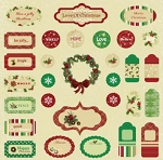 Best Creations- Merry Christmas-Expressions Chipboards