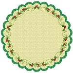 Best Creations- Merry Christmas-Die Cut Glittered Paper-Christmas Holly