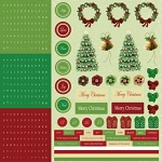 Best Creations- Merry Christmas-Combo Stickers