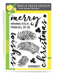 Birch Press - Clear Stamp - Brushed Christmas Greetings