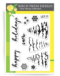 Birch Press - Clear Stamp - Let it Snow