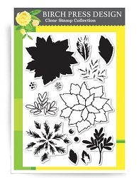 Birch Press - Clear Stamp - Holiday Poinsettia