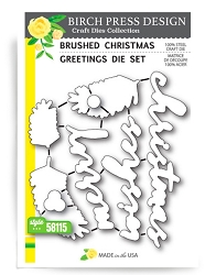 Birch Press - Cutting Die - Brushed Christmas Greetings