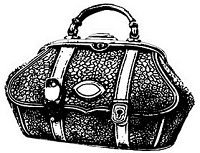 B-Line Designs - Cling Stamp - Carpet Bag lg.