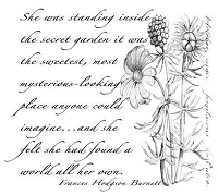 B-Line Designs - Cling Stamp - The Secret Garden
