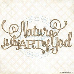 Blue Fern Studios - Chipboard - Nature is the Art