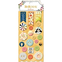 Bo Bunny - Calendar Girl Collection - Buttons