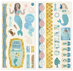 Bo Bunny - Down By The Sea Collection - Chipboard Accent Stickers