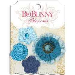 Bo Bunny - Blossoms - Denim Blue Dahlia
