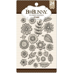 Bo Bunny - Clear Stamps - Flower Garden Card Stamp