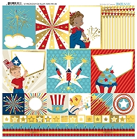 Bo Bunny - Firecracker Collection - Foil Vellum Paper