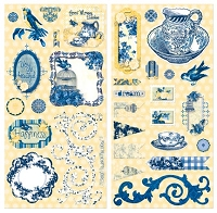 Bo Bunny - Genevieve Collection - Chipboard