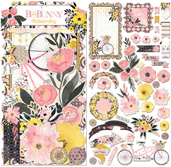 Bo Bunny - Petal Lane Collection - Noteworthy Die-Cuts