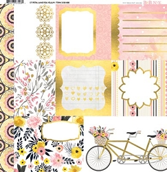 Bo Bunny - Petal Lane Collection - Foil Vellum 12