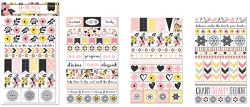 Bo Bunny - Petal Lane Collection - Clear Stickers