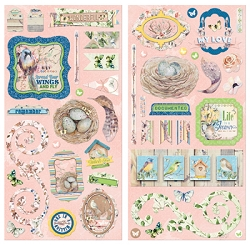 Bo Bunny - Serendipity Collection - Chipboard Accent Stickers