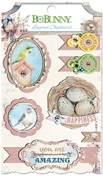 Bo Bunny - Serendipity Collection - Layered Chipboard Stickers