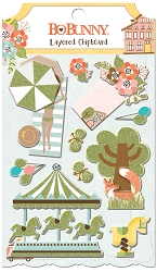 Bo Bunny - Weekend Adventures Collection - Layered Chipboard Stickers