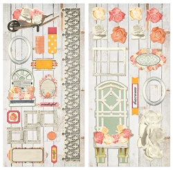 Bo Bunny - Aryia's Garden Collection - Chipboard Accent Stickers