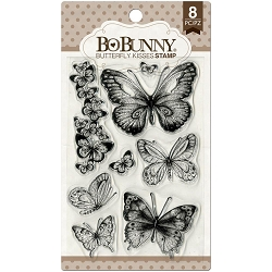 Bo Bunny - Aryia's Garden Collection - Butterfly Kisses Clear Stamp