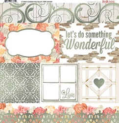Bo Bunny - Aryia's Garden Collection - Foil Vellum 12