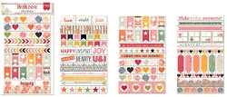 Bo Bunny - Aryia's Garden Collection - Clear Stickers