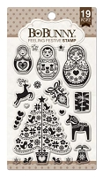 Bo Bunny - Clear Stamp - Feeling Festive Stamp