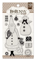 Bo Bunny - Clear Stamp - Holly Jolly Stamp