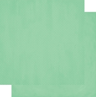 Bo-Bunny - Double Dot Cardstock - Jade Dot