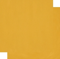 Bo-Bunny - Double Dot Cardstock - Maize Dot