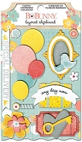 Bo Bunny - Baby Bump Collection - Layered Chipboard