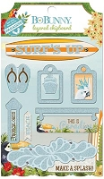 Bo Bunny - Beach Therapy Collection - Layered Chipboard