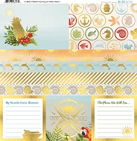 Bo Bunny - Beach Therapy Collection - Foil Vellum 12