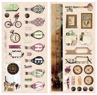 Bo Bunny - Beautiful Dreamer Collection - 6x12 Chipboard