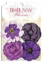Bo Bunny - Blossoms - Zinnia - Plum Purple