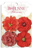 Bo Bunny - Blossoms - Zinnia - Wildberry