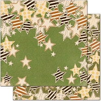 Bo Bunny - Camp-A-Lot Collection - 12X12 Paper - Falling Stars