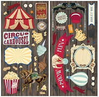 Bo Bunny - Carnival Collection - Chipboard