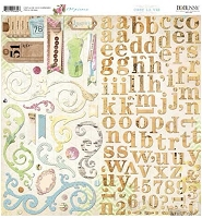 Bo Bunny - C'est La Vie Collection - 12x12 Chipboard