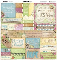 Bo Bunny - C'est La Vie Collection - 12x12 Combo Sticker Sheet