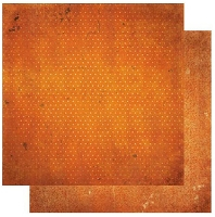 Bo-Bunny - Double Dot Cardstock - Burnt Orange Vintage