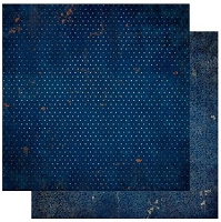 Bo-Bunny - Double Dot Cardstock - Dark Denim Vintage