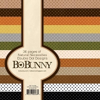 Bo Bunny - Double Dot 6X6 Paper Pad - Natural Necessities