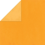 Bo-Bunny - Double Dot Cardstock - Orange Citrus Dot