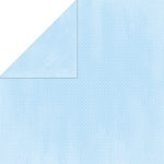Bo-Bunny - Double Dot Cardstock - Powder Blue Dot