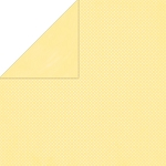 Bo-Bunny - Double Dot Cardstock - Mellow Yellow Dot