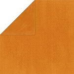 Bo-Bunny - Double Dot Cardstock - Burnt Orange Dot